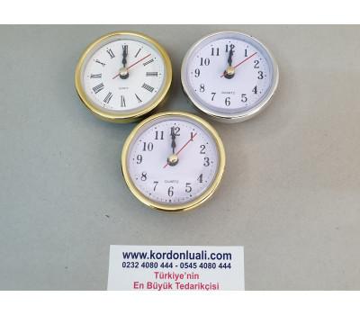 Geçme Saat 6,5 cm Sarı Veya Gümüş Tam Veya Roma Rakamlı 100 Ad