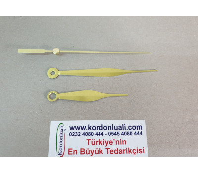 Akrep 6,8 cm Yelkovan 9,8 cm Metal Gold
