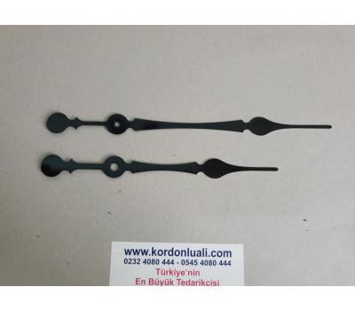 Akrep 16 cm Yelkovan 19,8 cm Metal Siyah 100 Adet
