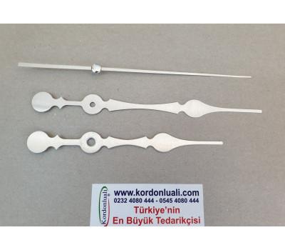 Akrep 13,8 cm Yelkovan 17 cm Metal Gümüş 100 Adet