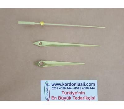 Akrep 7 cm Yelkovan 9,3 cm Metal Gold 100 Adet